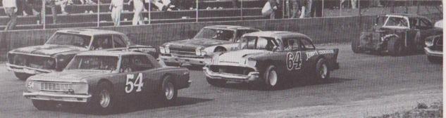 1974 cars on main stretch (J.W. Shipley)