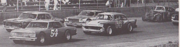 1974 cars on main stretch (J.W. Shipley)