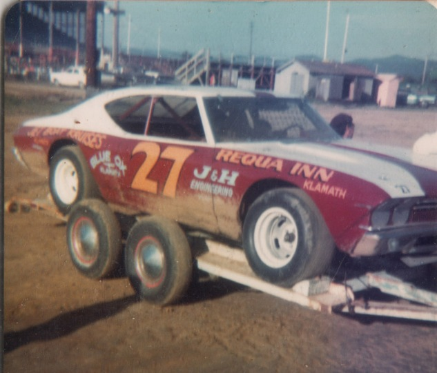 1976 Red and White Car