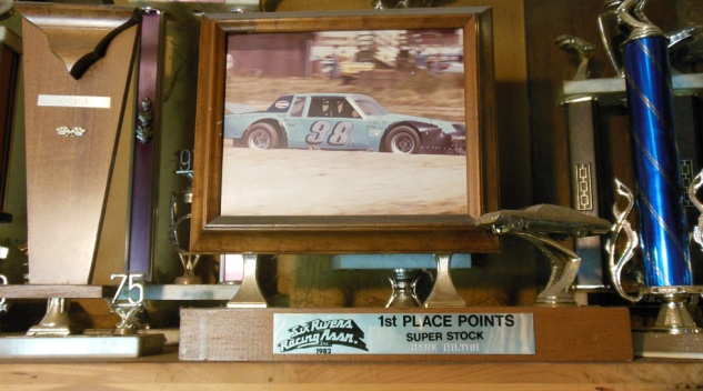 1982 Six Rivers Racing Association Super Stock Track Champion Trophy
