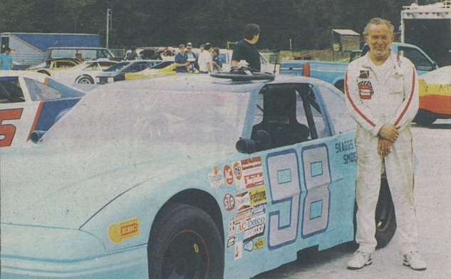 Hank and his asphalt car, early 1990s