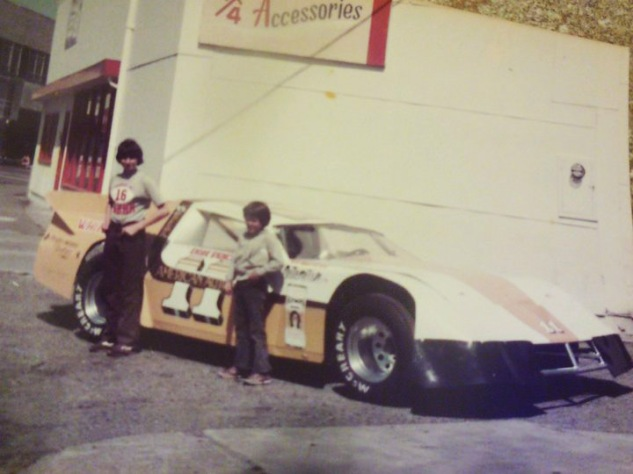 Olympia car with Jody (Bill Gillespie's son, on left) and Billy (Don's Price's son)