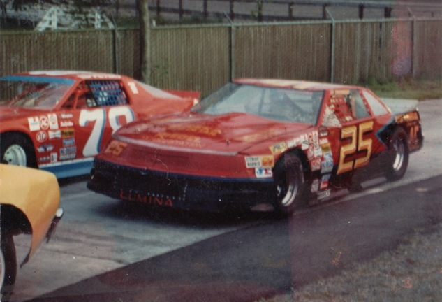 The Chevy Lumina owned by Al Berkey, shown here driven by Angelo Marcelli  (photo courtesy of Angelo Marcelli)