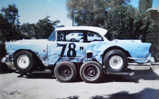 '56 Chevy which was also driven by Don Hood