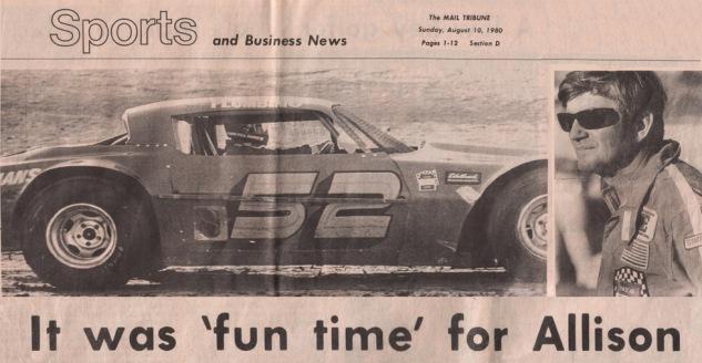 1980 BOBBY ALLISON Headline