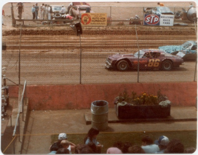 1978 at Redwood Acres: A new track record and a backwards victory lap with local rival Jimmy Walker of Ferndale.