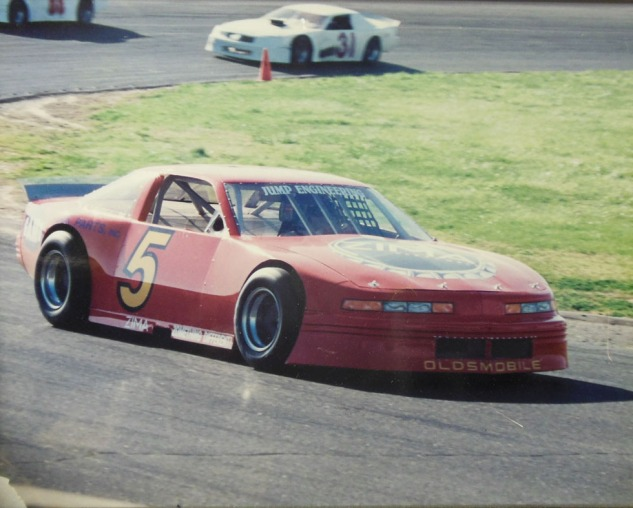 Dane Smith in the Butch Jump Oldsmobile at Ukiah