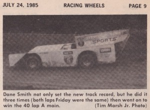 1985 July North Coast Dirt Track Classic - Racing Wheels 1 - Clipped 400