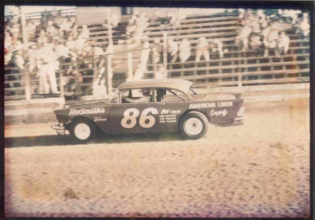 "Dane's first car: a 1957 Chevy #86- a reference to ""getting 86'd from the bar"", specifically Dane's Mr. Smith's Bar & Grill"