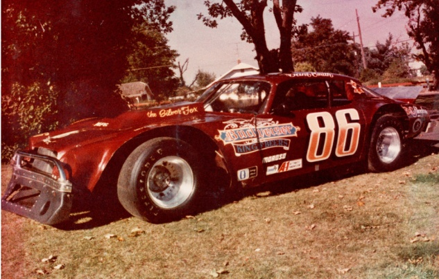 Mid 70s Chevy Camaro, the car of choice in the Super Stocks on the short tracks in the late 1970s.