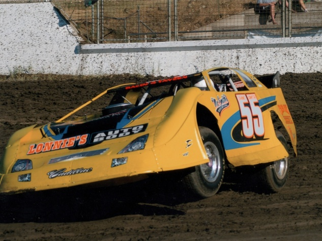 "Lonnie's Auto Body Dirt Late Model #55 (his Oregon football jersey number) - Dane: ""That was my last dirt late model car, around 2008 or 2009."""